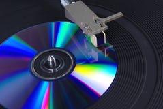 1个CD的转盘 库存照片