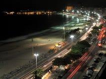 1个copacabana晚上 免版税库存照片