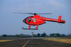 1个helipcopter红色 免版税库存照片