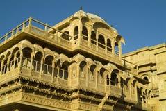 1个jaisalmer宫殿 免版税库存图片