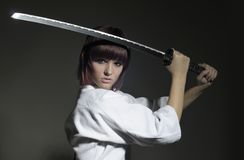 1个katana灵魂战士 免版税库存照片