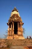 1个khajuraho寺庙 库存图片