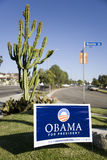 1个obama符号 免版税库存照片