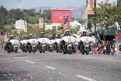 1中国警察形成新的游行年 免版税图库摄影