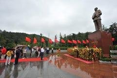 1主席铜毛・ 10月雕象zedong 免版税库存照片