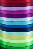 1五颜六色的水平的丝带 库存图片