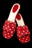 1件小点短上衣鞋子 免版税库存图片