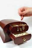 1件配件箱珠宝 免版税库存图片