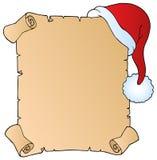 1份圣诞节帽子信函 免版税库存图片