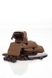 1份巧克力咖啡 免版税库存图片