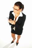 1企业性感的妇女 免版税图库摄影