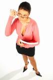 1企业性感的妇女 免版税库存图片