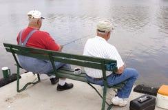 1伙计钓鱼 库存图片