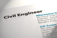 1位土木工程师职业 免版税库存照片