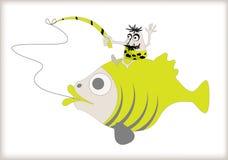 1位天捕鱼狩猎国民 库存照片