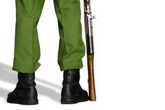 1位战士 免版税库存照片