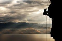 1位登山家 图库摄影