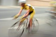 1位自行车竟赛者 免版税库存照片
