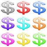 1光滑的图标货币集 库存图片