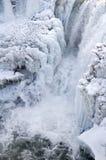 1冰冷的瀑布 库存照片