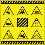 1危险等级符号警告 皇族释放例证