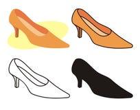 1双女性鞋子 图库摄影