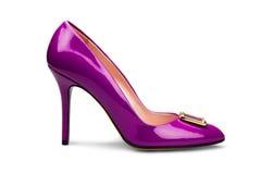 1双女性紫色鞋子 免版税库存图片