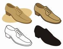 1双男性鞋子 库存照片