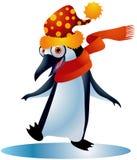 1只圣诞节企鹅 免版税库存照片
