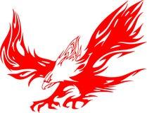 1只atacking的老鹰火焰 免版税库存图片