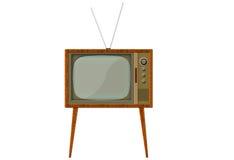 1台减速火箭的电视 免版税库存照片