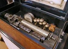 1台古色古香的过时留声机 图库摄影
