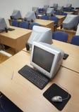 1台课堂计算机 免版税库存图片