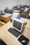 1台课堂计算机 免版税库存照片