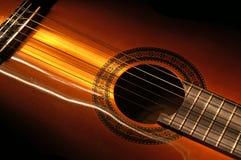 1吉他lightbrush 免版税库存照片
