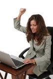 1名企业沮丧的妇女 免版税库存照片
