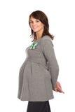 1名好怀孕的微笑的妇女 免版税库存图片