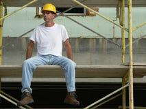 1名建筑工人 库存图片