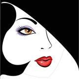 1名美丽的表面JPG妇女 免版税库存图片