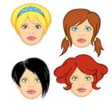 1名头发妇女 免版税图库摄影