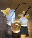 1含酒精成分的coctails 图库摄影