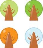 1四个季节结构树 皇族释放例证