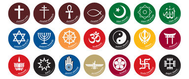 1图标宗教信仰 免版税库存照片