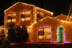 1圣诞节房子光 免版税库存图片