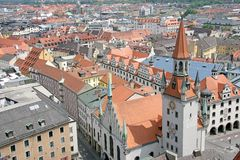 1在慕尼黑老视图之上 免版税库存照片