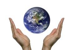 1地球祈祷 图库摄影