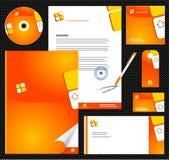 1块总公司编辑可能的身分模板 免版税库存照片