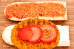 1块炸肉排vegetarisches 免版税库存图片