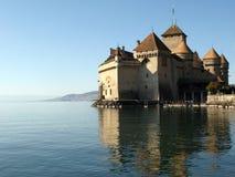1城堡ch chillon montreux 图库摄影