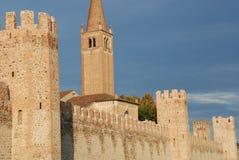 1城市montagnana墙壁 库存照片